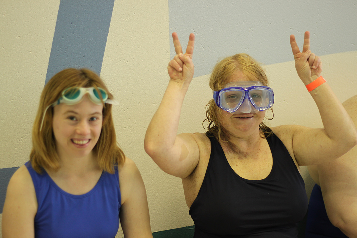 Photo of participants during a swimming event