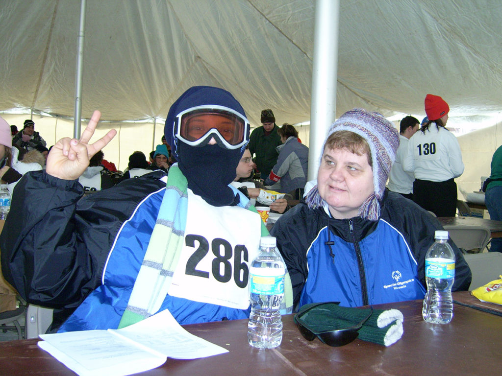 Photo of skiing participant
