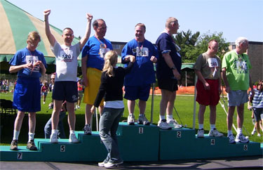 Photo of Special Olympics Athletes on the podium
